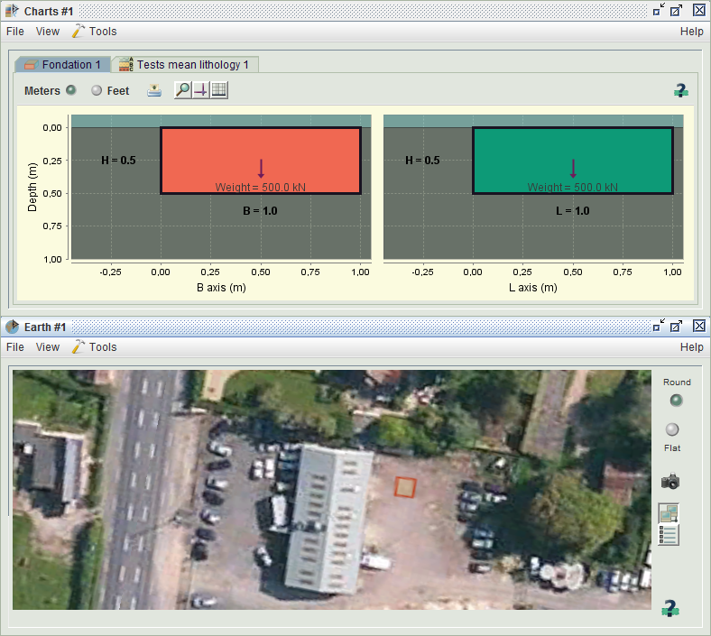 Example of infrastructures handled by Elk, Free geotechnical software platform : shallow foundation